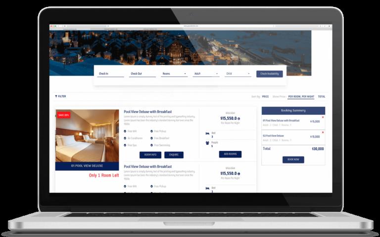pagina web de hotel